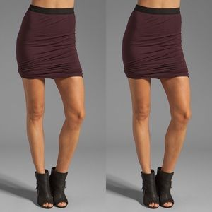 T by Alexander Wang Merlot Twist Skirt - Sz XS